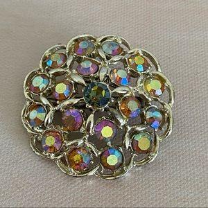 VINTAGE Gold Sparkle Cluster of Stones Brooch
